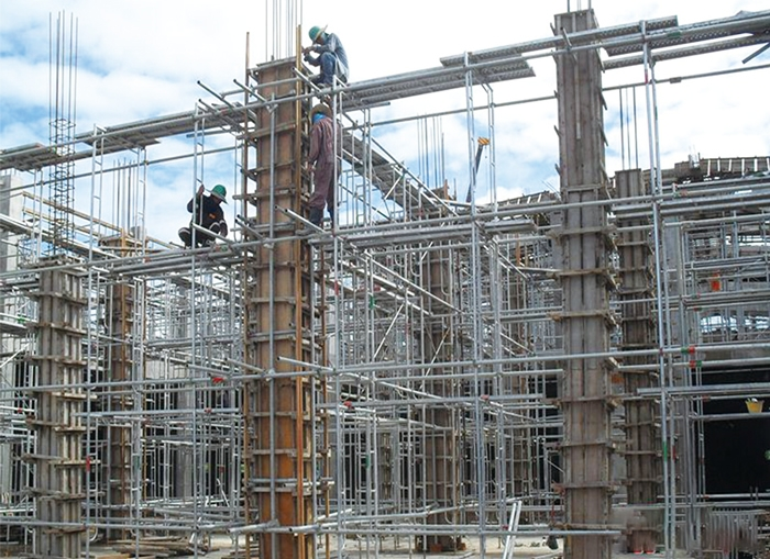 Wheeled scaffolding project
