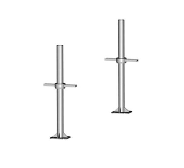 Disc-type scaffolding equipment steps